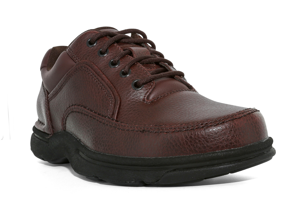 Mens Rockport Eureka Moc Toe Oxford Brown