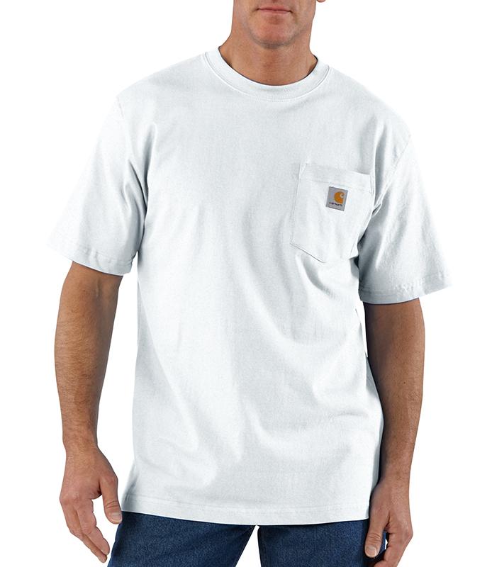 Mens carhartt k87 pocket t shirt white sizes 3xl 4xl for Mens t shirts 4xl