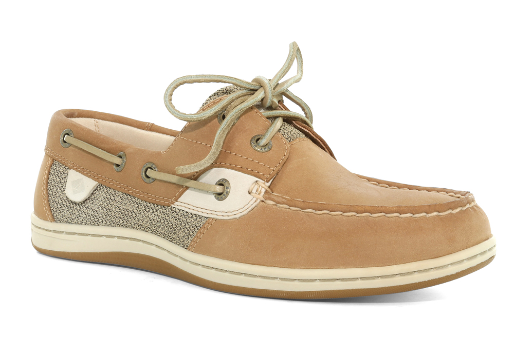 a1f61d493810 Womens Sperry Koifish Boat Shoe Linen Oat in Brown