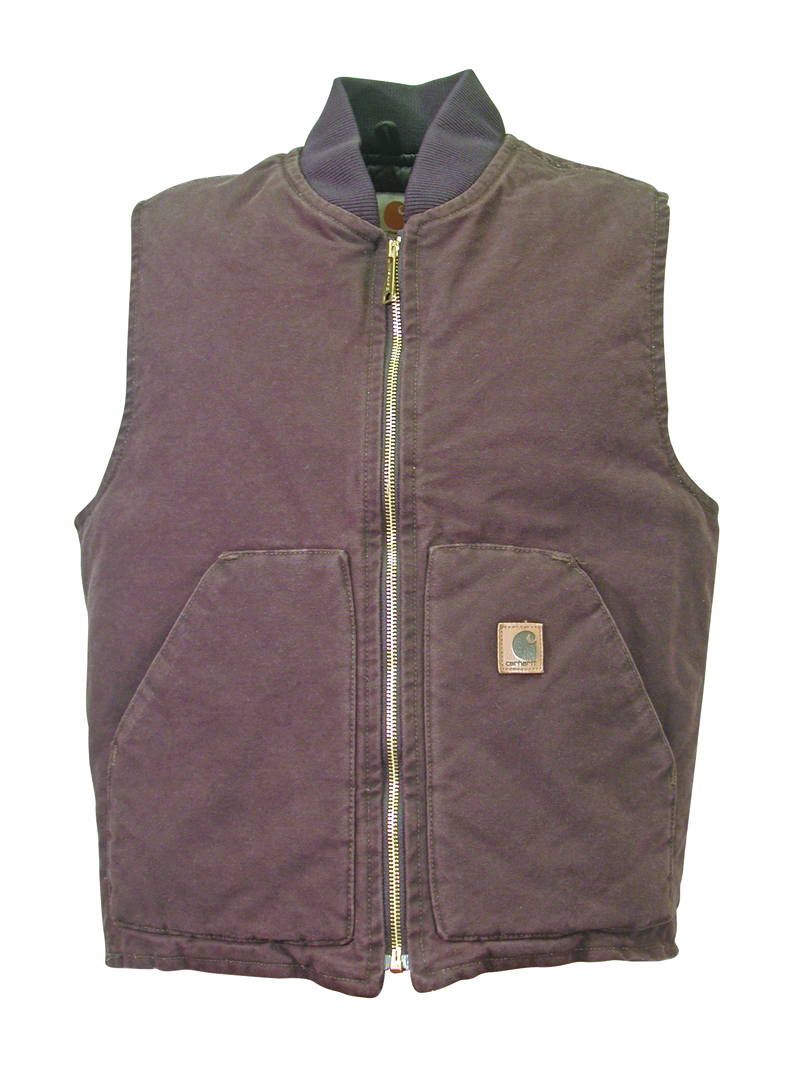 Mens Carhartt Quilted Lined Vest Dark Brown