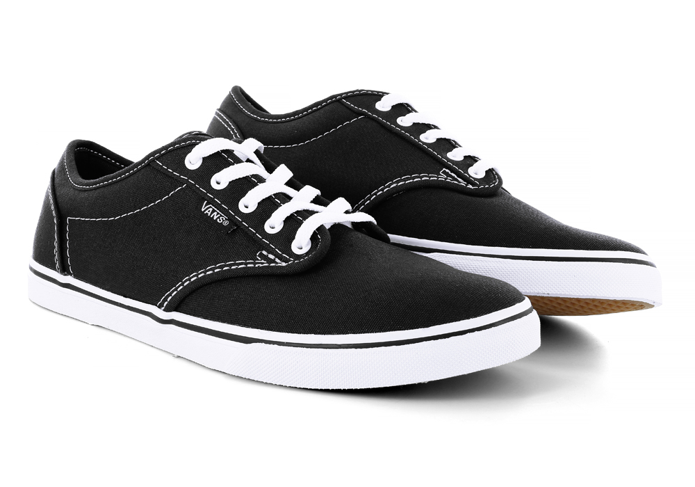 Womens Vans Atwood Low Canvas Black White in Black 4a6de8a52ec3
