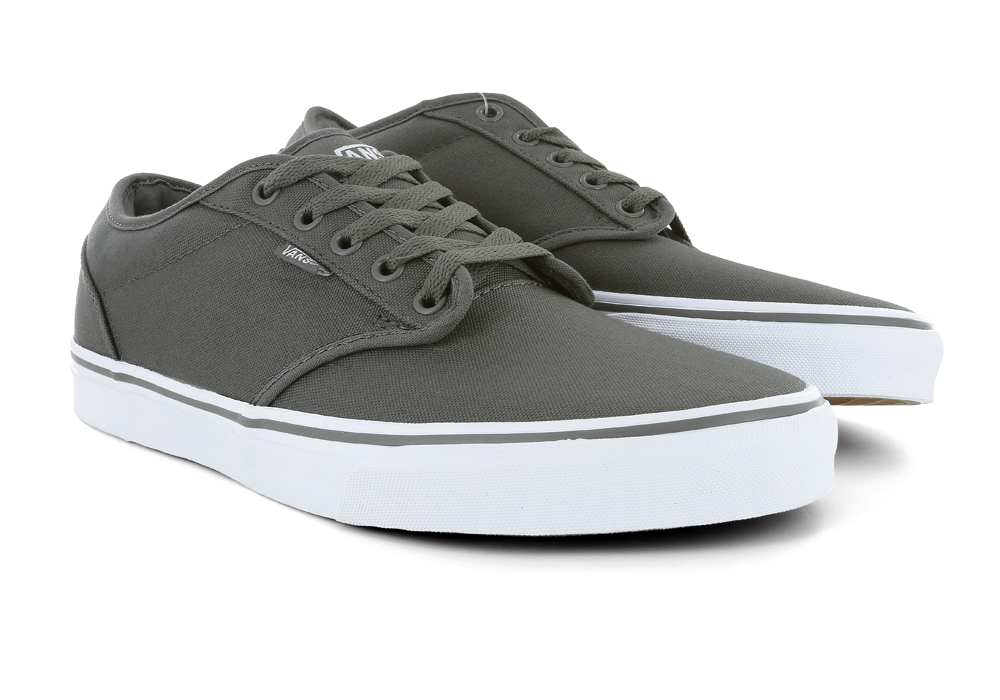 mens vans atwood canvas gray white