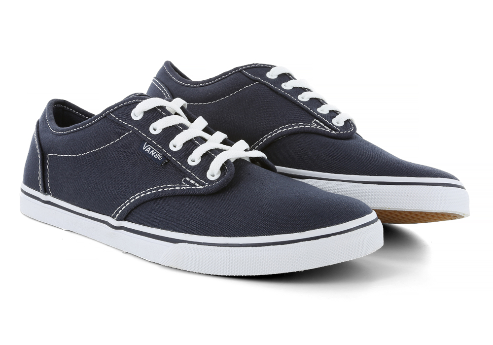 bb47162e10 Womens Vans Atwood Low Canvas Navy White in Blue