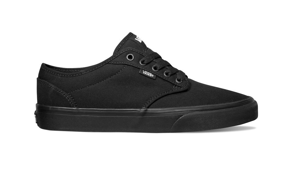df2e537d84 Mens Vans Atwood Canvas Black in Black