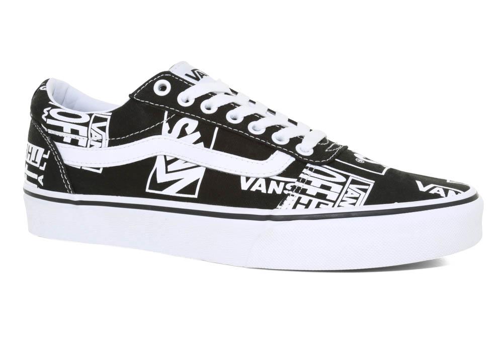 9118e7a1792f Mens Vans Ward Logo Mix Black White in