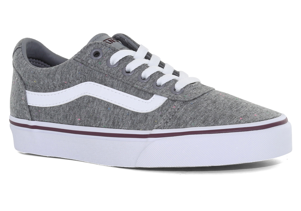 6f8353828c60 Womens Vans Ward Textile Gray Burgundy in Gray