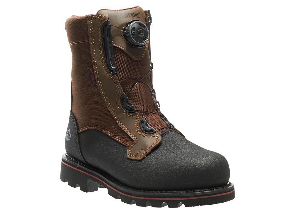 Mens Wolverine Drillbit 8 Quot Steel Toe Waterproof Boot Brown