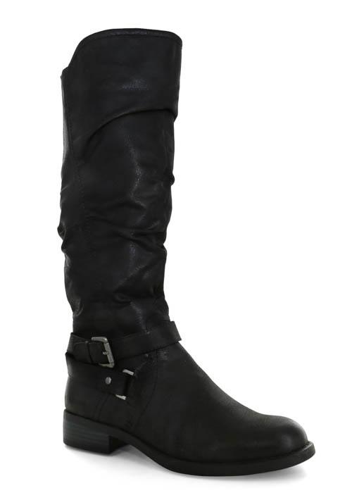 ba7cf26452c0 Womens White Mountain Layton Side Zip Boot Black in Black
