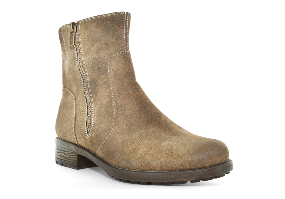 womens madeline sepia side zip boot mud