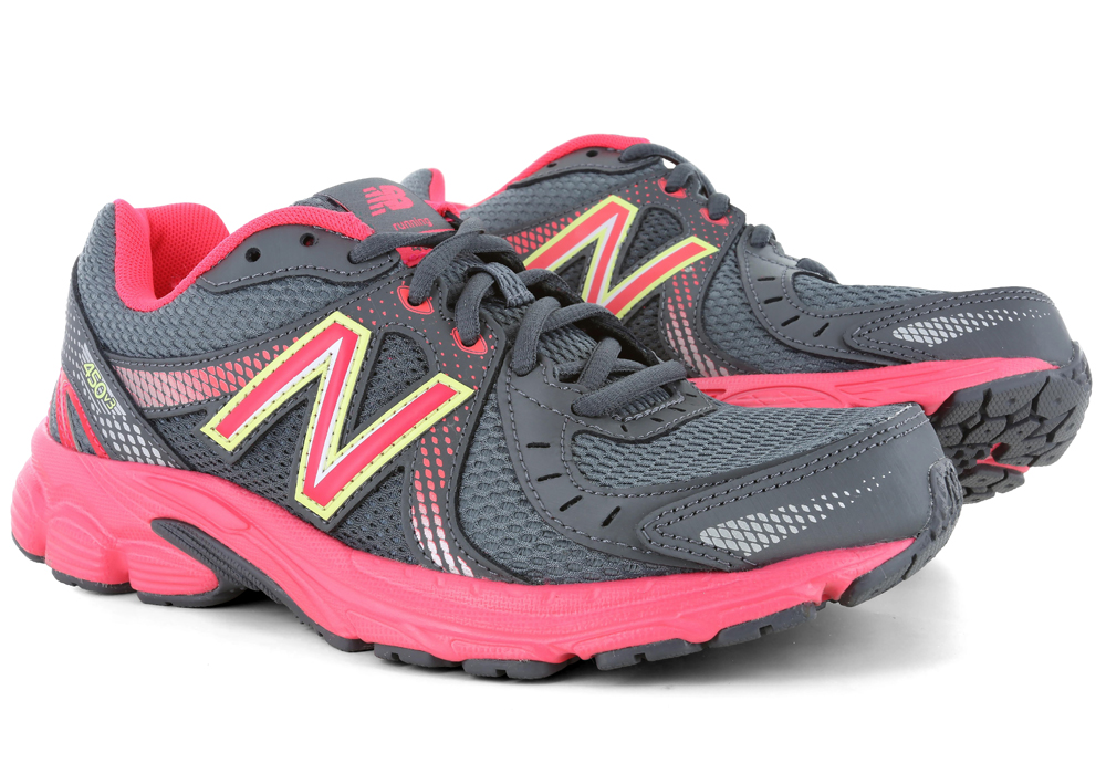 womens new balance 450 fitness runner gray pink