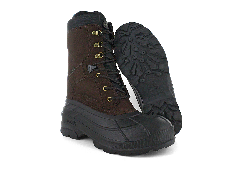 Mens Kamik Nationplus Waterproof Pack Boot Dark Brown