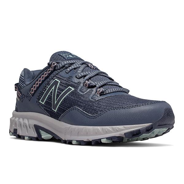 Womens New Balance 410v6 Trail Runner Black Gray Green