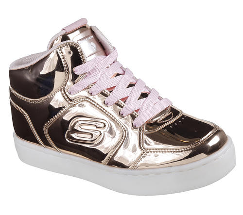 7be7fa12b861 Girls Skechers Kids Energy Lights Dance N Dazzle Rose Gold in Pink ...