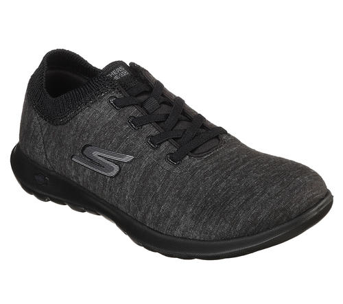 252507457439 Skechers   Womens Skechers GO Walk Lite Floret Slip On Black Grey