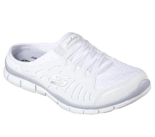 SKECHERS Sport Women's White Leather sneakers Shoes Size 7.5