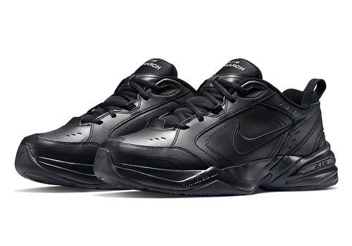 Mens Nike Air Monarch IV Trainer Black in Black ...