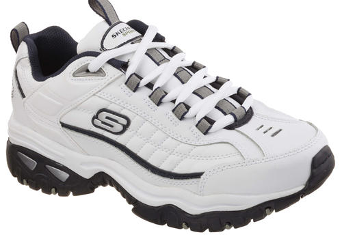 Mens Skechers Energy After Burn Athletic White / Navy in White ...