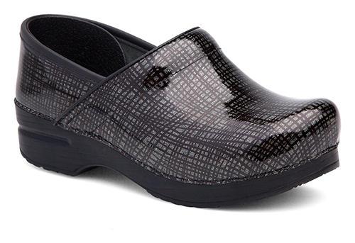 Womens Dansko Professional Slip On Crisscross Black Silver