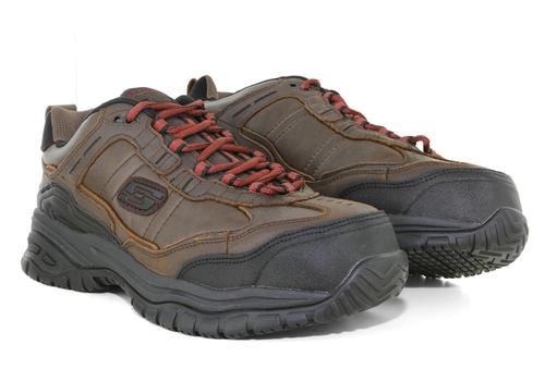 163ead71dc874 Mens Skechers Work Composite Toe Slip Resistant EH Constructor II Brown in  Brown ...