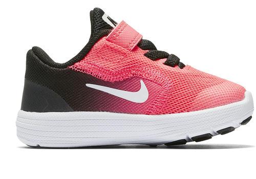 6026d2b759ead Infant Girls Nike Revolution 3 Runner Black Pink in Black ...
