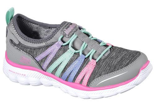 eaff4785659d Girls Skechers Skech Flex 2.0 Heather Jersey Slip On Gray in Gray ...