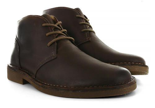 Mens Dockers Tussock Chukka Boot Red Brown in Brown