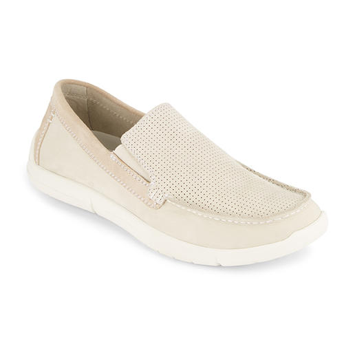 Mens Dockers Alcove Moc Toe Loafer Oyster in Off White ...