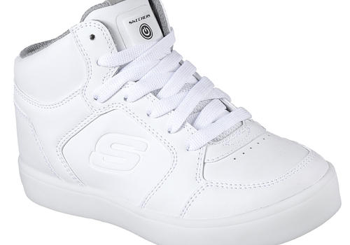 skechers kids white