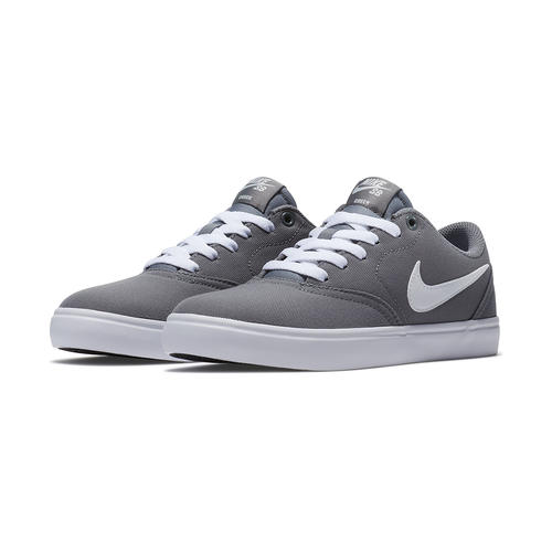 Womens Nike SB Check Solarsoft Canvas Gray White in Gray ... 8a1d6a0582