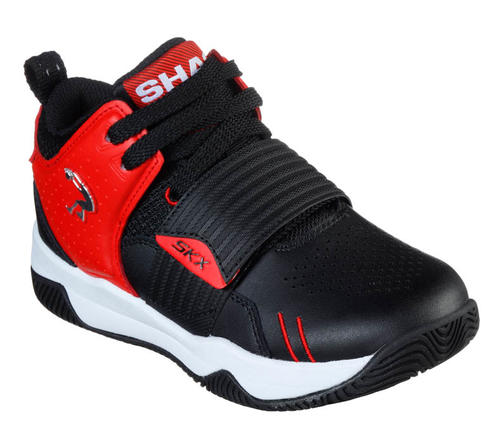 Polo Excluir collar  Boys Skechers Kids Powershot Basketball Black/Red