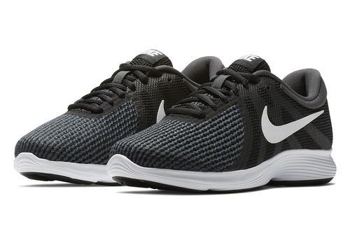 Womens Nike Revolution 4 Wide Runner Black/White in Black ...
