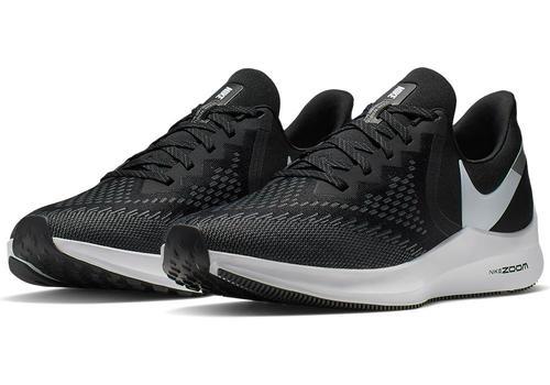 e33743fa8 Mens Nike Air Zoom Winflo 6 Runner Black Gray in Black ...