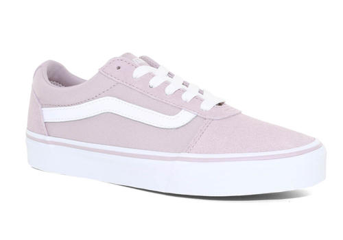 8d589c6107b1 Womens Vans Ward Lo Suede Canvas Violet Ice White in ...