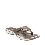 1cb80a775 Womens Clarks Breeze Sea Thong Pewter